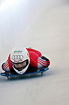 12 December 2006: Tanja Morel, from Switzerland, slides down a straightaway during a training run in preparation for the World Cup Skeleton Competition at the Olympic Sports Complex on Mount Van Hoevenburg  in Lake Placid, New York, USA.&amp;#xA;&amp;#xA;Mandatory Photo credit: Ed Wolfstein Photo<br />