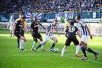 VOETBAL: HEERENVEEN: Abe Lenstra Stadion, SC Heerenveen - Vitesse, 21-01-2012,  Guram Kashia (#37), Renato Ibarra (#30), Oussama Assaidi (#22), Michihiro Yasuda (#16), Eindstand 1-1, ©foto Martin de Jong