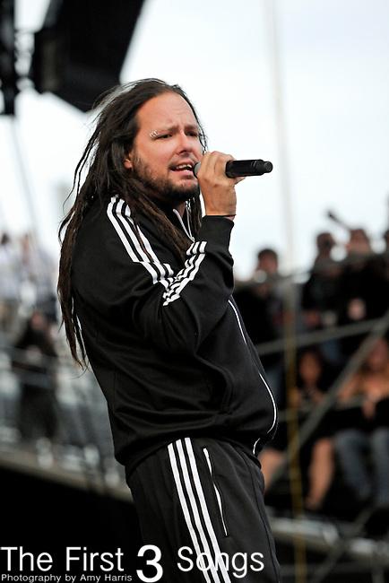 Jonathan Davis of Korn performs during the 2011 Rock On The Range festival at Columbus Crew Stadium on May 21, 2011 in Columbus, Ohio.