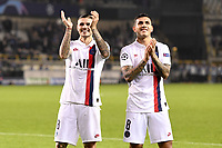 JOIE - FAIR PLAY - 18 MAURO ICARDI (PSG) - 08 LEANDRO PAREDES (PSG) celebrate <br /> Bruges 22-10-2019 <br /> Club Brugge - Paris Saint Germain PSG <br /> Champions League 2019/2020<br /> Foto Panoramic / Insidefoto <br /> Italy Only