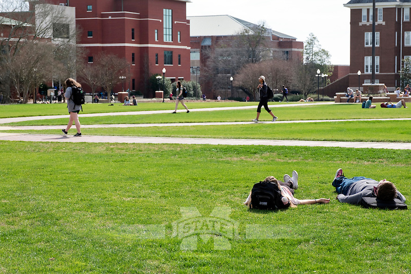 Drill Field Spring Day.<br />  (photo by Megan Bean / &copy; Mississippi State University)