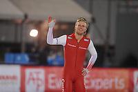 SCHAATSEN: AMSTERDAM: Olympisch Stadion, 28-02-2014, KPN NK Sprint/Allround, Coolste Baan van Nederland, Maurice Vriend, ©foto Martin de Jong