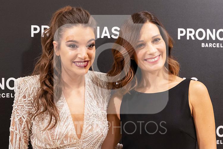 Spanish singer Ana Guerra and Italian fashion designer Alessandra Rinaudo during the presentation of the new Pronovias 2020 collection. September 25, 2019. (ALTERPHOTOS/Johana Hernandez)