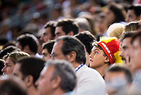 Spain's basketball supporter during the  match of the preparation for the Rio Olympic Game at Madrid Arena. July 23, 2016. (ALTERPHOTOS/BorjaB.Hojas) /NORTEPHOTO.COM