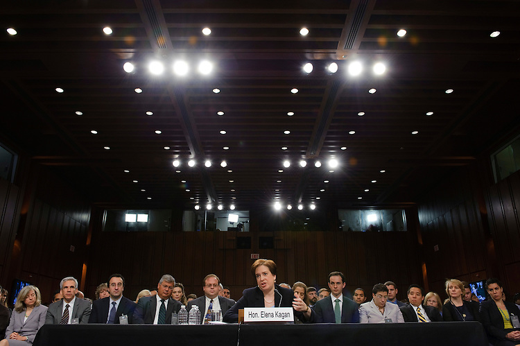 WASHINGTON, DC - June 30: President Obama's U.S. Supreme Court nominee Elena Kagan testifies during her Senate Judiciary nomination hearing. (Photo by Scott J. Ferrell/Congressional Quarterly)