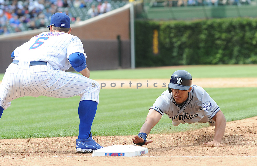 WILL VENABLE (25) of the San Diego Padres, in action during the Padres game against the Chicago Cubs on May 30, 2012 at Wrigley Field in Chicago, IL. The Cubs beat the Padres 8-6.