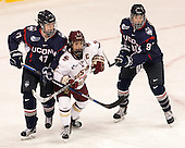 Jaime Fox (UConn - 47), Dana Trivigno (BC - 8), Madison Badeau (UConn - 91) - The Boston College Eagles defeated the visiting UConn Huskies 4-0 on Friday, October 30, 2015, at Kelley Rink in Conte Forum in Chestnut Hill, Massachusetts.