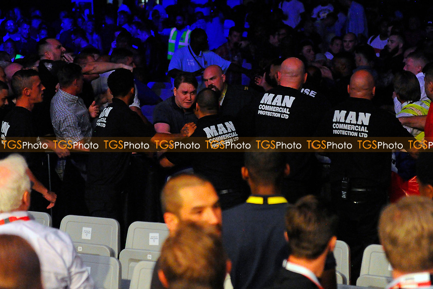 A disturbance in the crowd during a Boxing Show at the Copper Box Arena on 8th July 2017