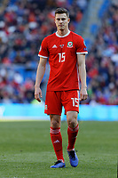 James Lawrence of Wales in action during the UEFA EURO 2020 Qualifier match between Wales and Slovakia at the Cardiff City Stadium, Cardiff, Wales, UK. Sunday 24 March 2019