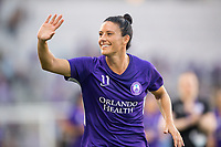 Orlando, FL - Saturday March 24, 2018: Orlando Pride defender Ali Krieger (11) waves to the fans prior to a regular season National Women's Soccer League (NWSL) match between the Orlando Pride and the Utah Royals FC at Orlando City Stadium. The game ended in a 1-1 draw.