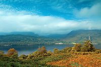 The Arrochar Alps and Loch Lomond from above Inversnaid, Loch Lomond and the Trossachs National Park, Stirlingshire