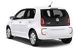 Car pictures of rear three quarter view of a 2014 Volkswagen up! e-up! 5 Door Hatchback 2WD Angular Rear