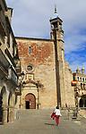 Iglesia de San Martin church in Plaza Mayor h medieval town of Trujillo, Caceres province, Extremadura, Spain