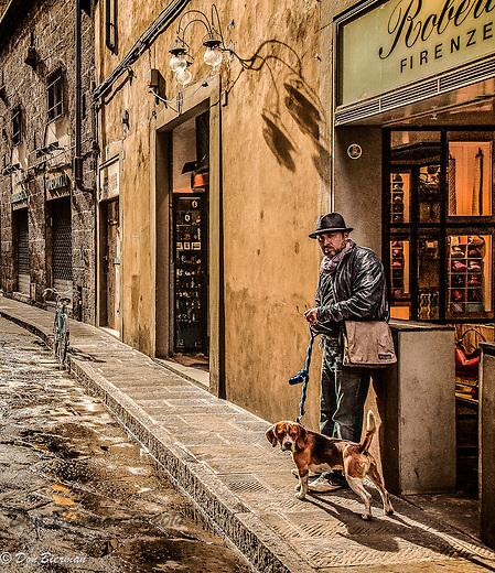 Archetypal Italian street scene in Florence, Italy.
