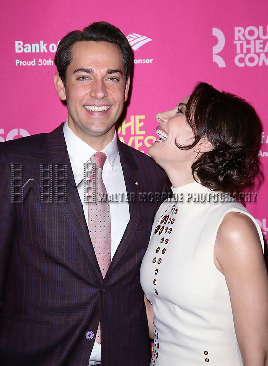 Zachary Levi and Laura Benanti attends the Broadway Opening Night Performance press reception for 'She Loves Me' at Studio 54 on March 17, 2016 in New York City.