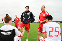 New York Red Bulls U18 head coach Paul O'Donnell during half time. Real Colorado v New York Red Bulls U17/18 during day one of the US Soccer Development Academy  Spring Showcase in Sarasota, FL, on May 22, 2009.
