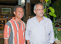 "President Jose Ramos-Horta of Timor-Leste (East Timor) (right) stands with Venancio ""Benny"" Lopez Carvalho at his home in Dili on February 4, 2010."