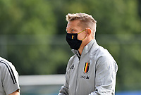 Belgian head coach Wesley Sonck pictured during a friendly soccer game between the national teams Under19 Youth teams of Belgium and Germany on tuesday 8 th of September 2020  in Genk , Belgium . PHOTO SPORTPIX.BE | SPP | DAVID CATRY