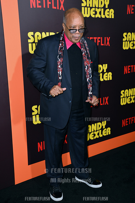 Quincy Jones at the premiere for &quot;Sandy Wexler&quot; at The Cinerama Dome. Los Angeles, USA 06 April  2017<br /> Picture: Paul Smith/Featureflash/SilverHub 0208 004 5359 sales@silverhubmedia.com