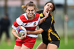 NELSON, NEW ZEALAND - Women`s Rugby - Motueka HS v Waimea Old Boys at Sport Park, Motueka, New Zealand. Saturday 5 May 2018. (Photo by Chris Symes/Shuttersport Limited)