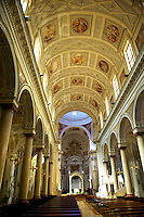Interior of  the San Lorenzo cathedral, Trapani, Sicily