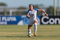 Bradenton, FL - Sunday, June 10, 2018: Maya Doms prior to a U-17 Women's Championship match between the United States and Haiti at IMG Academy.  USA defeated Haiti 3-2 to advance to the finals.