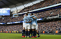 Sergio Aguero of Manchester City celebrates scorn the third goal during the Premier League match at the Etihad Stadium, Manchester. Picture date: 10th February 2019. Picture credit should read: Andrew Yates/Sportimage/Imago/Insidefoto PUBLICATIONxNOTxINxUK _AY13243.JPG  <br /> ITALY ONLY