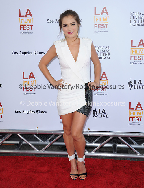 Haley Lu Richardson attends The LOS ANGELES FILM FESTIVAL Opening Night Gala: SNOWPIERCER held at Regal Cinemas  in Los Angeles, California on June 11,2014                                                                               © 2014 Hollywood Press Agency
