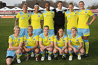 The starting eleven for the Philadelphia Independence.    Sky Blue and Philadelphia played to a 2-2 tie in Sky Blue's season opener on April 10, 2011 in Piscataway, NJ.