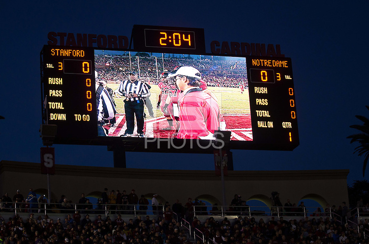 STANFORD, CA - November 26, 2011: Stanford football team defeated Notre Dame 28-14 on Saturday, November 26th at Stanford University in Stanford, California.