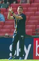 Shrewsbury manager Paul Hurst during the Sky Bet League 1 Play Off FINAL match between Rotherham United and Shrewsbury Town at Wembley, London, England on 27 May 2018. Photo by Andrew Aleksiejczuk / PRiME Media Images.