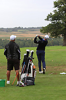 Richard McEvoy (ENG) on the driving range during Pro-Am of the Bridgestone Challenge 2017 at the Luton Hoo Hotel Golf &amp; Spa, Luton, Bedfordshire, England. 06/09/2017<br /> Picture: Golffile | Thos Caffrey<br /> <br /> <br /> All photo usage must carry mandatory copyright credit (&copy; Golffile | Thos Caffrey)