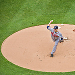 4 April 2014: Atlanta Braves pitcher David Hale on the mound during the Washington Nationals Home Opening Game at Nationals Park in Washington, DC. The Braves edged out the Nationals 2-1 in their first meeting of the 2014 MLB season. Mandatory Credit: Ed Wolfstein Photo *** RAW (NEF) Image File Available ***
