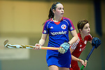 GER - Mannheim, Germany, December 19: During the 1. Bundesliga Sued Damen indoor hockey match between Mannheimer HC (blue) and Nuernberger HTC (red) on December 19, 2015 at Irma-Roechling-Halle in Mannheim, Germany. Final score 8-2 (HT 3-2). (Photo by Dirk Markgraf / www.265-images.com) *** Local caption *** Maxi Pohl #6 of Mannheimer HC