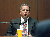 Raymond Kilduff testifies during the trial of former NFL star running back O.J. Simpson for the murder of his former wife, Nicole Brown Simpson and a friend of hers, restaurant waiter, Ron Goldman in Los Angeles County Superior Court in Los Angeles, California on July 13, 1995.<br /> Credit: Steve Grayson / Pool via CNP