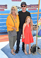 "David Spade, Judith M. Spade & Harper Spade at the world premiere for ""Hotel Transylvania 3: Summer Vacation"" at the Regency Village Theatre, Los Angeles, USA 30 June 2018<br /> Picture: Paul Smith/Featureflash/SilverHub 0208 004 5359 sales@silverhubmedia.com"
