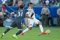 CARSON, CA - SEPTEMBER 29: Diego Polenta #3 of the Los Angeles Galaxy moves with the ball during a game between Vancouver Whitecaps and Los Angeles Galaxy at Dignity Health Sports Park on September 29, 2019 in Carson, California.