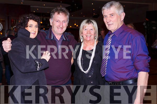 Pictured in the Ring of Kerry Hotel on Little Christmas for the fundraising dance were l-r; Mary & Mike Kelleher with Josephine & Michael Heffernan.