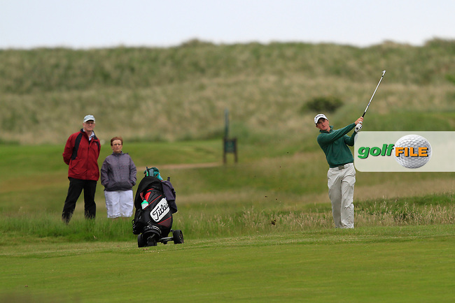 Paul Dunne (Greystones) on the 9th during Round 3 of the East of Ireland in the Co. Louth Golf Club at Baltray on Monday 2nd June 2014.<br /> Picture:  Thos Caffrey / www.golffile.ie