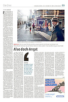 die tageszeitung taz (German daily) on islamistic terrorism in Brussels, Belgium, 11.2015.<br />