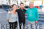 Enjoying the evening in Tralee celebrating Kerrys win in the All Ireland series on Saturday.<br /> L to r: Grainne Prendergast, Eamonn Flynn and Eric Boylan.