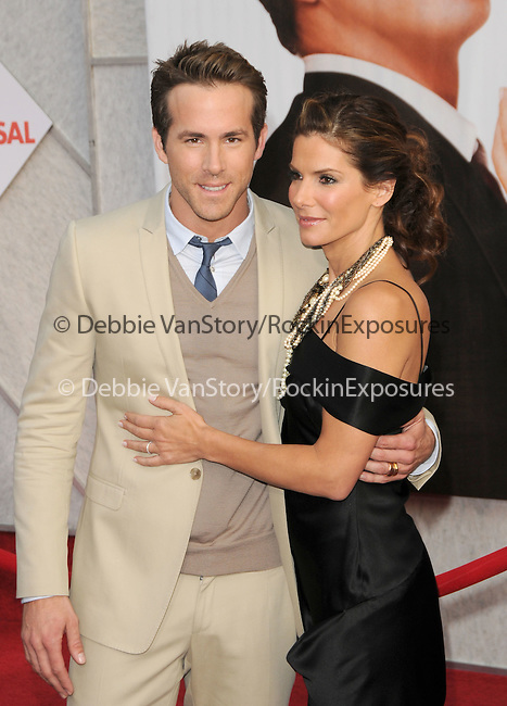 Ryan Reynolds & Sandra Bullock James at The Touchstone Pictures' World Premiere of The Proposal held at The El Capitan Theatre in Hollywood, California on June 01,2009                                                                     Copyright 2009 DVS / RockinExposures
