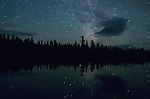 Night sky over Rabbit Blanket Lake