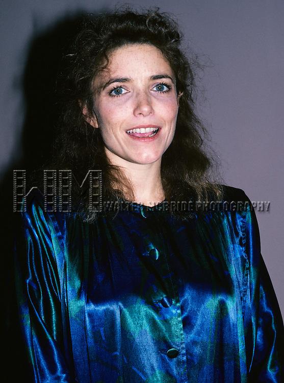 Karen Allen pictured in New York City om Octomber 1, 1990.