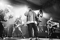 SAN FRANCISCO, CA - June 21: (L - R) Kirk Douglas, Black Thought, Damon Bryson, and Mark Kelley of The Roots perform at Clusterfest on June 21, 2019 in San Francisco, CA. photo: Ryan Myers/imageSPACE/MediaPunch