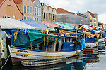 Boats from Venezuela and Colombia that bring fresh fish and produce to stalls on the Waaigat Waterfront, Willemstad, Curacao