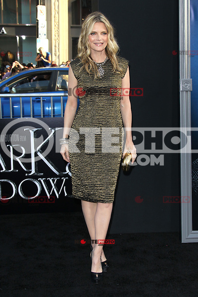 Michelle Pfeiffer at the premiere of Warner Bros. Pictures' 'Dark Shadows' at Grauman's Chinese Theatre on May 7, 2012 in Hollywood, California. ©mpi26/ MediaPunch Inc.