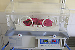 Newborn Afghanistan baby in an incubator