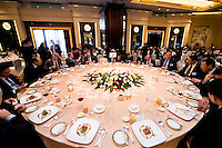 The luncheon at Shanghai / Paris Europlace Financial Forum, in Shanghai, China, on December 1, 2010. Photo by Lucas Schifres/Pictobank