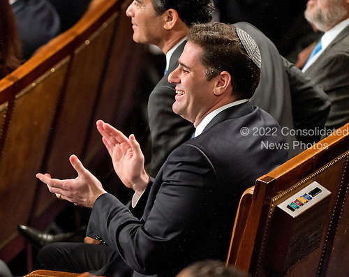 Ambassador of Israel to the United States Ron Dermer applauds during the address of Prime Minister Benjamin Netanyahu of Israel to a joint session of the U.S. Congress in the U.S. Capitol in Washington, D.C. on Tuesday, March 3, 2015.<br /> Credit: Ron Sachs / CNP<br /> (RESTRICTION: NO New York or New Jersey Newspapers or newspapers within a 75 mile radius of New York City)